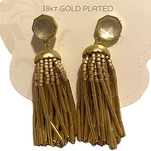 Sparina 449 18 kt Gold Plated Dangle Earrings